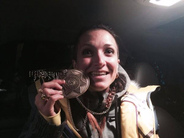 Marie Martinod visiblement très heureuse d'avoir décroché une nouvelle médaille de bronze !