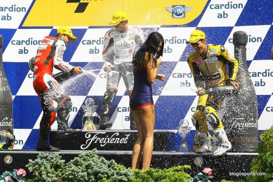 Podium 125cc à Brno en 2011 : Zarco, Cortese, Moncayo