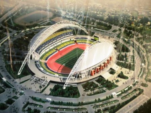 Maquette du stade d'Angondjé à Libreville au Gabon