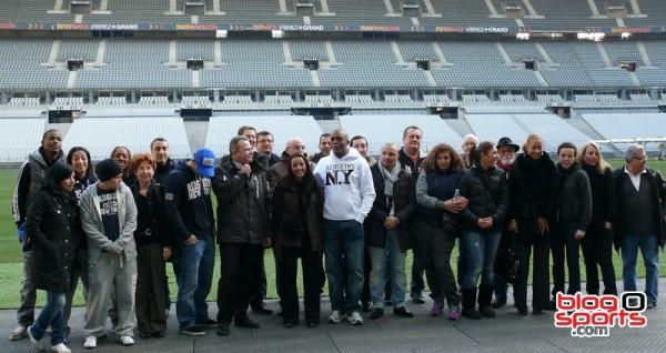 Une partie de la team Boxing Beats au Stade de France